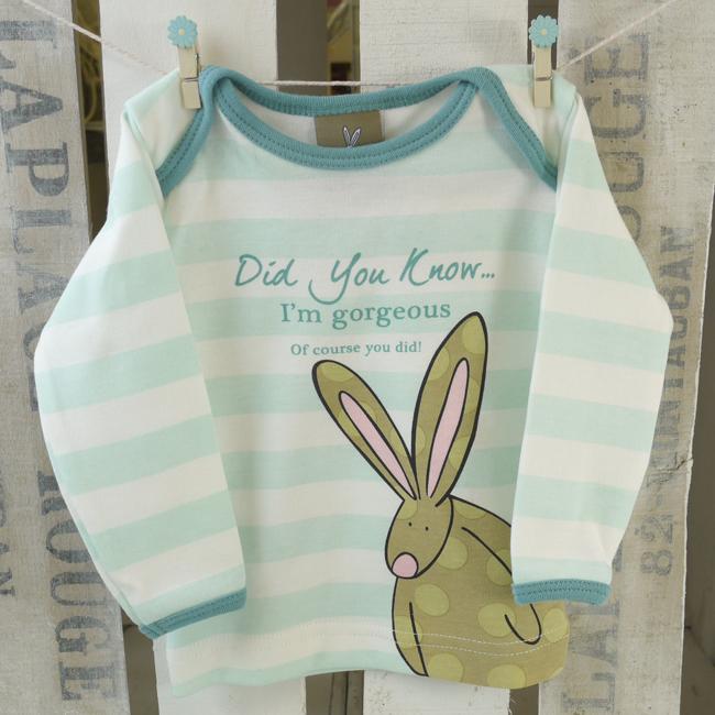 0e59de44d Baby Boy Organic Cotton T-shirt by Rufus Rabbit. A lovely bunny way ...