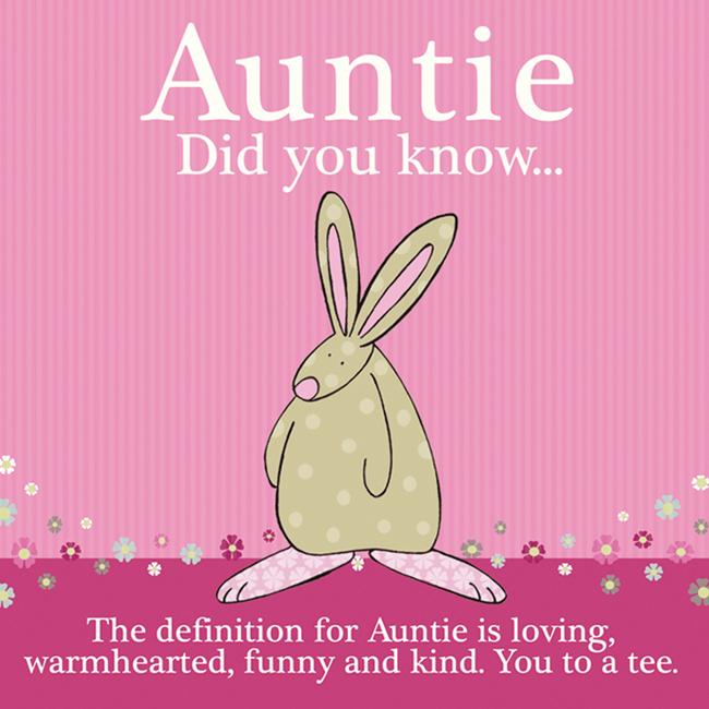 Auntie greeting card rufus rabbit bookmarktalkfo Choice Image