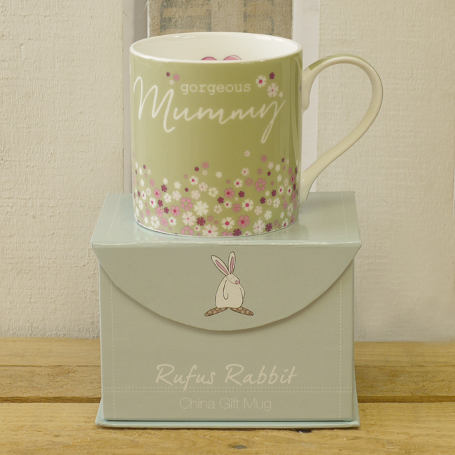 Baby Gift Baskets China : Fine bone china gift mug gorgeous mummy rufus rabbit