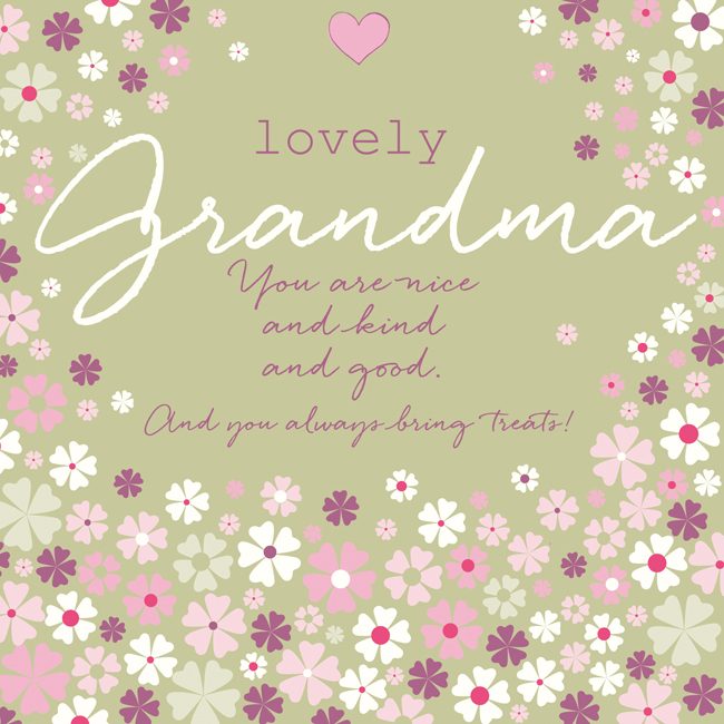 Lovely grandma greeting card by rufus rabbit cards for lovely people m4hsunfo